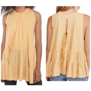 Free People Right On Time Ruffled Top M NWT $68